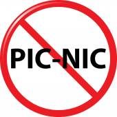 Prohibit picnic sign — Stock Vector