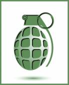 Hand antipersonnel grenade — ストックベクタ
