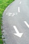 Fahrrad-spur — Stockfoto