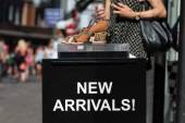 New Arrivals sign — Stock Photo