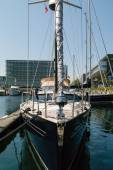 Front of sailing boat — Stock Photo