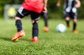 Kids soccer blur — Stock Photo