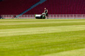 Soccer pitch — Stock Photo