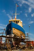 Boat under repair — Stock Photo