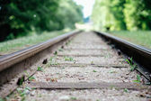 Close-up of railway tracks — Foto Stock