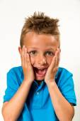 Boy with silly face — Stock Photo