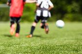 Kids soccer blur — Stock Photo