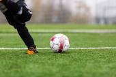 Free kick — Stock Photo