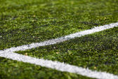 Line on soccer pitch — Stock Photo