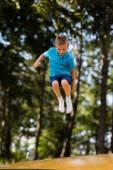 Boy having fun at playground — Stock Photo