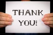 Man with Thank You sign — Stock Photo