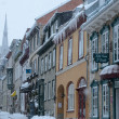 Blizzard in old Quebec city — Stock Photo #63721633