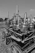 Samovar antici sul carro — Foto Stock