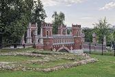 Figured bridge in museum-estate Tsaritsyno — Stock Photo