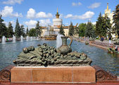 View of the Fountain Stone Flower and Pavilion Ukraine — Stock Photo