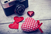Valentines day background with hearth — Stock Photo