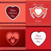 Collection of love gift cards — Stock Vector