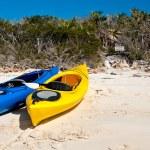 Kayaks on a beach — Stock Photo #68769591