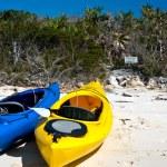 Kayaks on a beach — Stock Photo #68769611