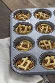 Mini Apple pies  — Stockfoto