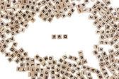 Faq written in small wooden cubes — Stock Photo