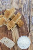 Flat bread sticks — Stock Photo