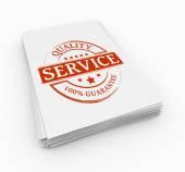 Stamp service concept — Stockfoto