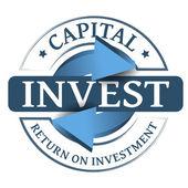 Invest stamp — Vector de stock