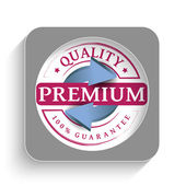 Premium quality guaranteed label — Stok Vektör