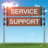 Business support concept sign — Stock Photo