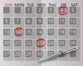 Calendar concept — Stock Vector