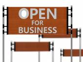 Open for business — Stock Photo
