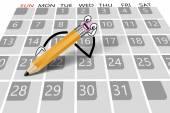 カレンダーの概念 — ストックベクタ