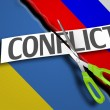 The Russian and Ukrainian conflict — Stock Photo #71946837
