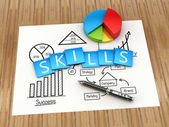 Business skills concept — Stock Photo