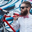 Hipsters and bikes — Stock Photo #63221263