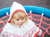 Little lady in hoodie — Stock Photo