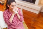 The mornings never start without a coffee — Stock Photo