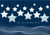 Christmas background with stars — Stock Vector