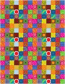 Color vector patchwork design — Stock Vector