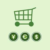 Modern shopping icon — Cтоковый вектор