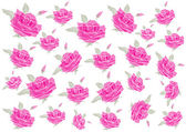 Pink  roses background — Stock Vector