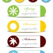 Set of four seasons icons — Stock Vector #53643801