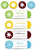 Set of four seasons icons — Cтоковый вектор