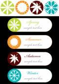 Tags with season symbols — Cтоковый вектор
