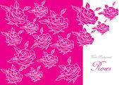 Color vintage roses background — Vetor de Stock