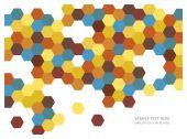 Color vector hexagons tiles background — Stock Vector