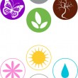Set of various spring symbols — Stock Vector #56120573