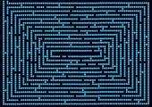 Polka dots maze — Stock Vector