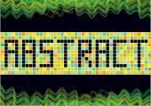 абстрактные векторные мозаика фон — Cтоковый вектор